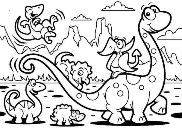 Online Dinosaurs Coloring Pages 6q201