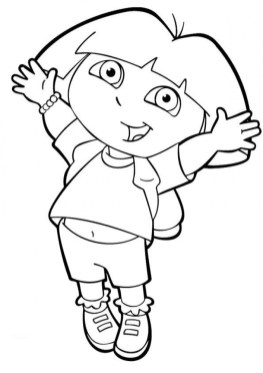 Online Dora The Explorer Coloring Pages gkhlz