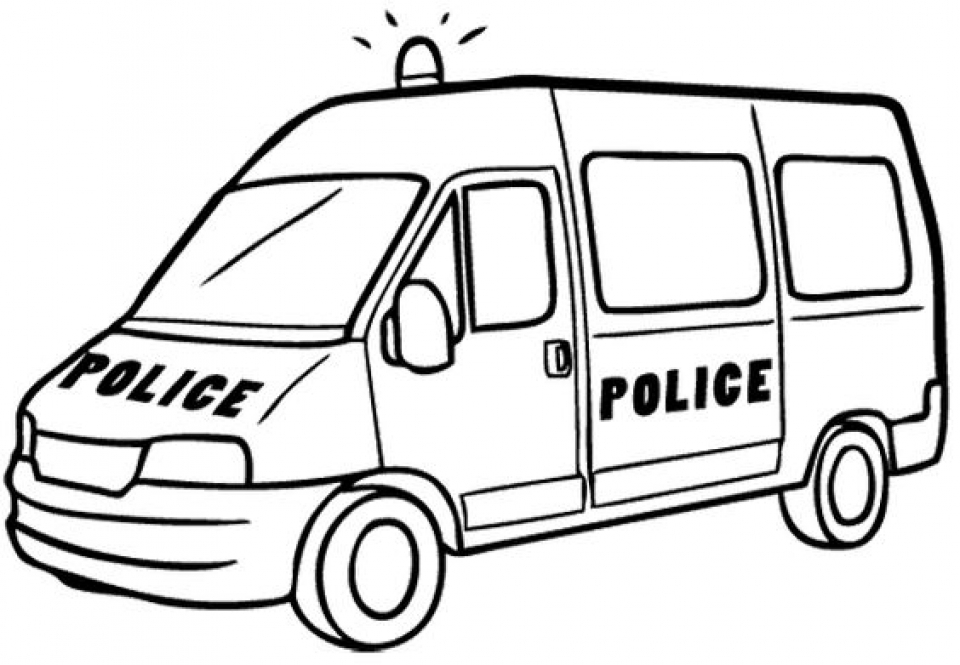 Online Police Car Coloring Pages   43569