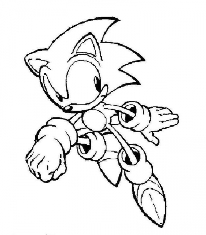 Online Sonic Coloring Pages   476853