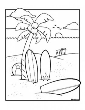 Online Summer Coloring Pages 703919