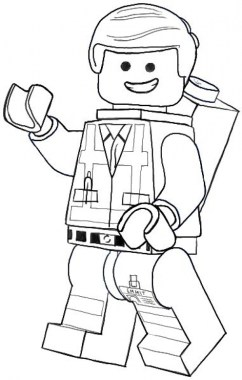 Online The Lego Movie Coloring Pages 357857