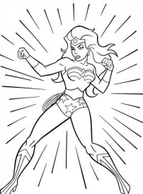 Online Wonder Woman Coloring Pages gkhlz