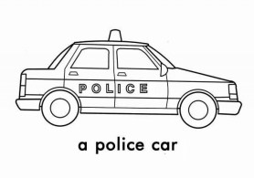 Police Car Coloring Pages Free Printable 76955