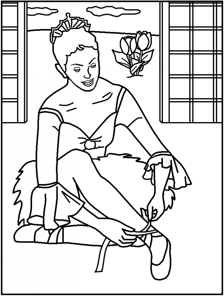 Princess Balerina Coloring Pages   77619