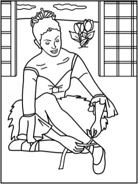 Princess Balerina Coloring Pages 77619