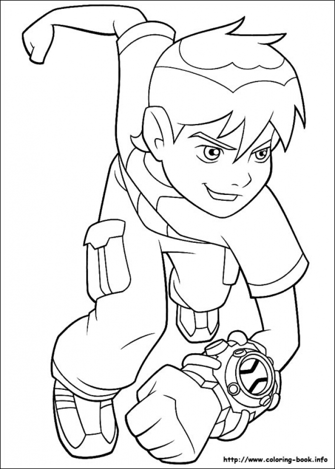 Printable Ben 10 Coloring Pages   7ao0b