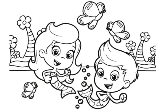 Printable Bubble Guppies Coloring Pages Online 387823