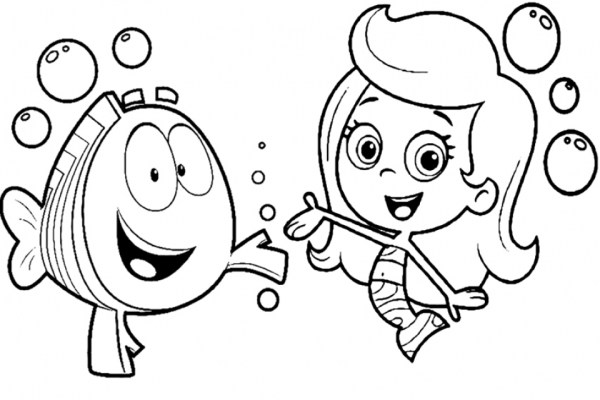bubble guppies coloring page # 14