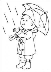 Printable Caillou Coloring Pages Online 2x552