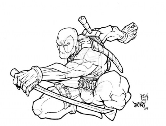 Printable Deadpool Coloring Pages 662630