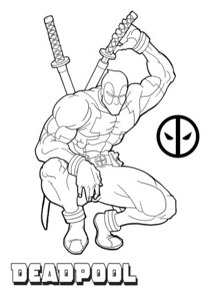 Printable Deadpool Coloring Pages Online 106083