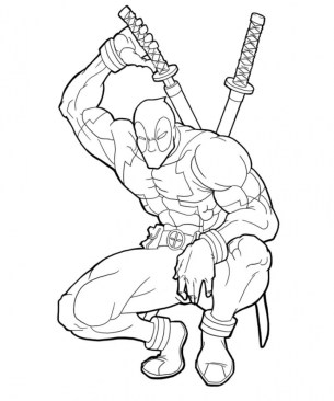Printable Deadpool Coloring Pages Online 781016