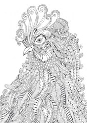 Printable Difficult Animals Coloring Pages for Adults CGP23