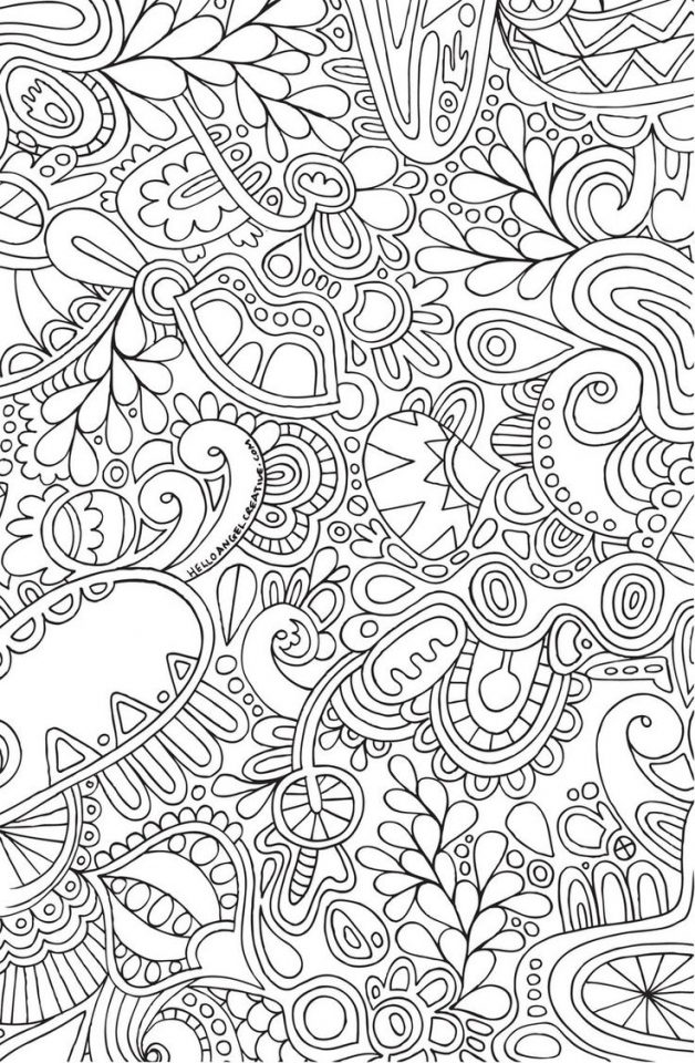 Printable Doodle Art Coloring Pages for Grown Ups   CGT3