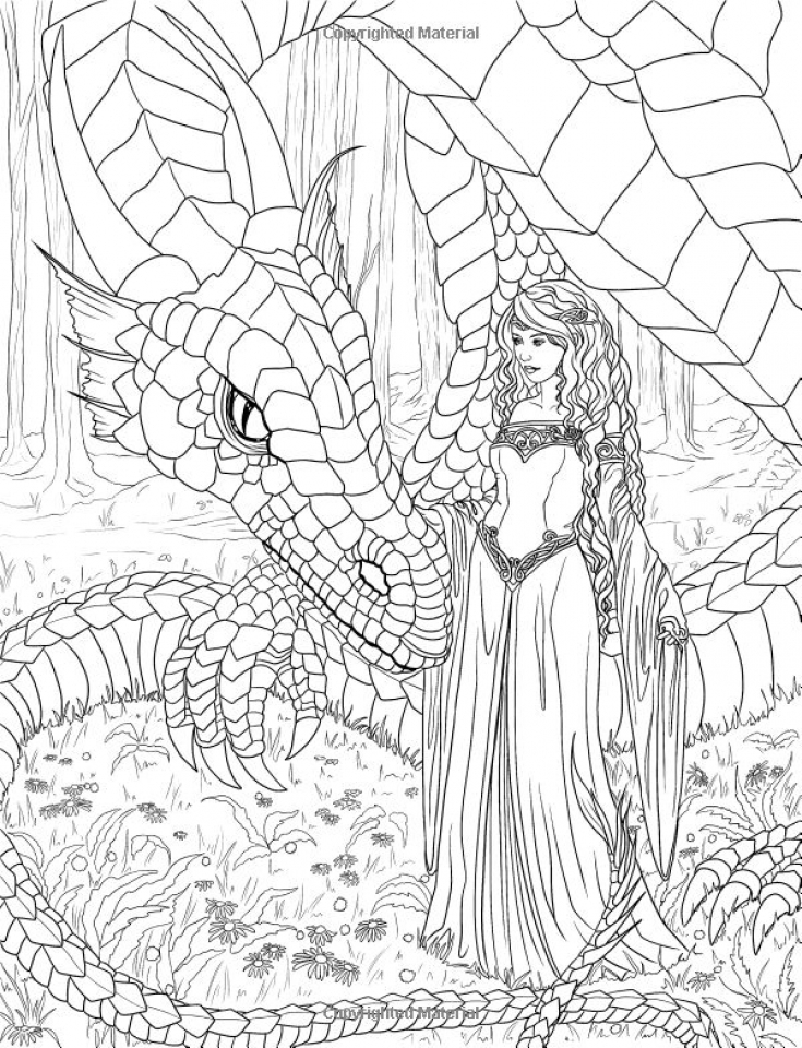 Printable Elf Coloring Pages for Adults   77423
