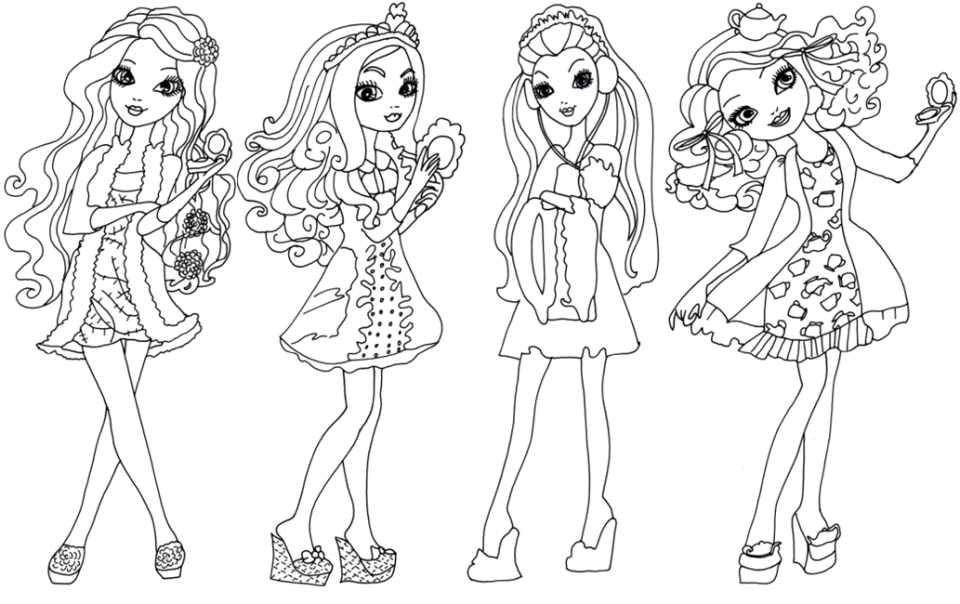 Printable Ever After High Coloring Pages Online   90455