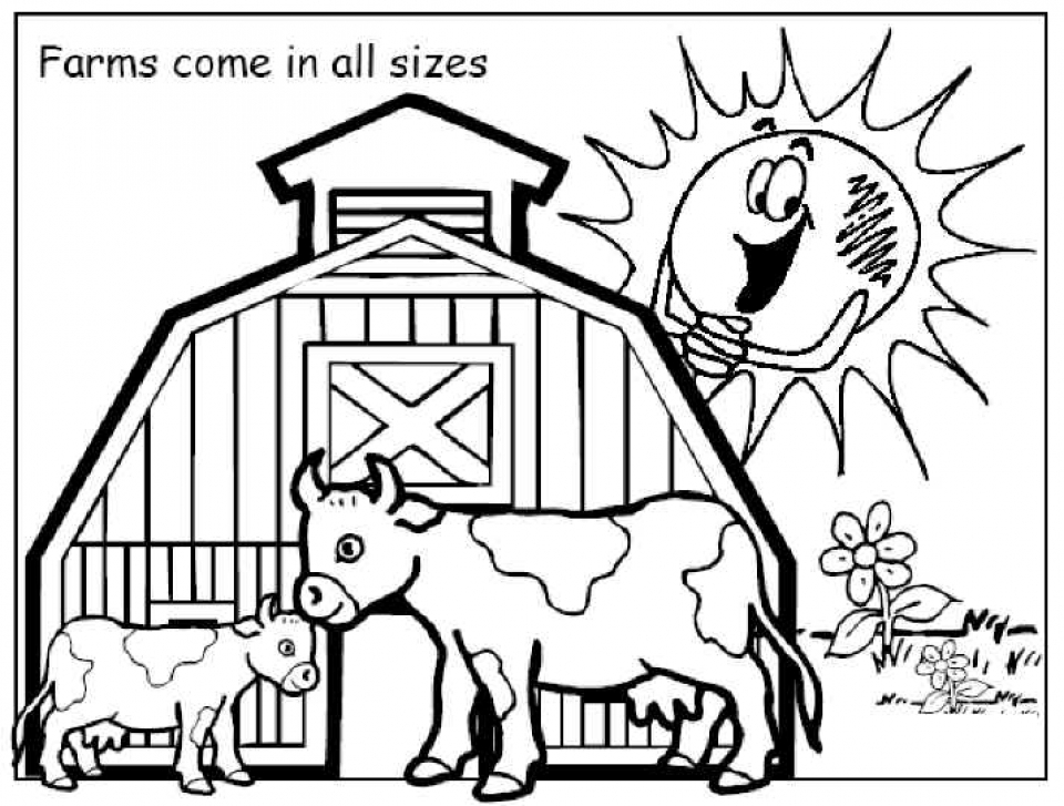 Printable Farm Coloring Pages   D4VIF