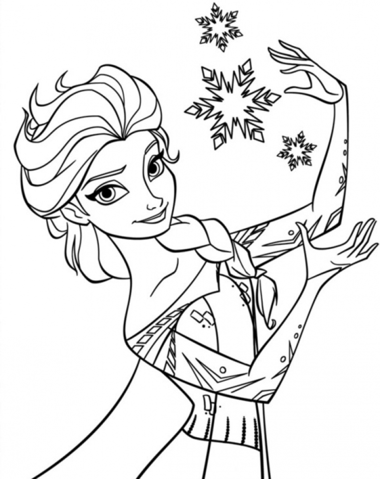Printable Frozen Coloring Pages   662642