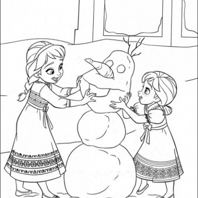 Printable Frozen Coloring Pages Online 106095