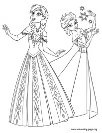 Printable Frozen Coloring Pages Online 781028