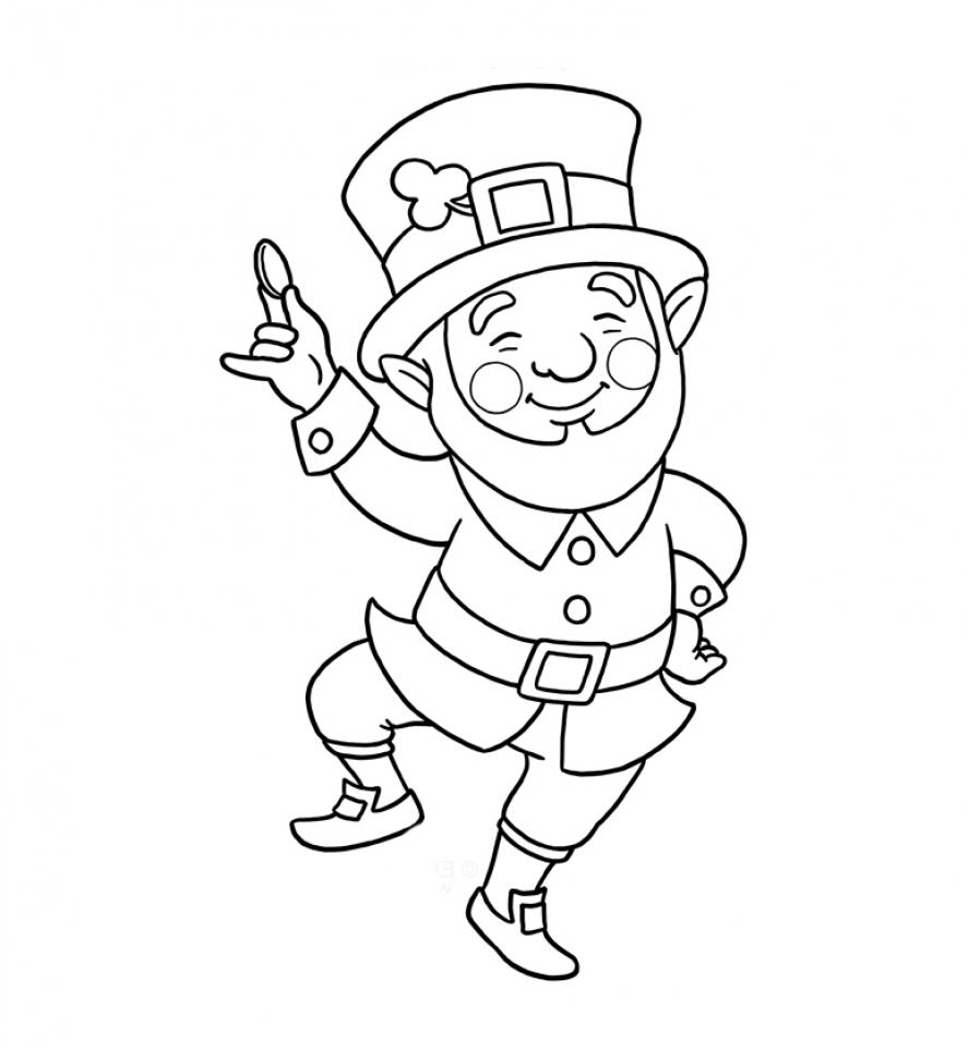 Printable Leprechaun Coloring Pages Online   gvjp16