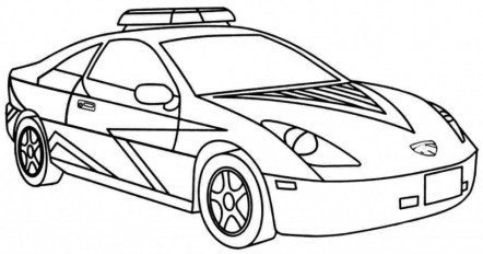 Printable Police Car Coloring Pages 42472