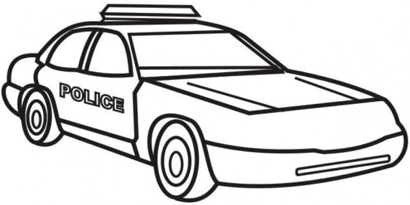 Printable Police Car Coloring Pages Online 17696