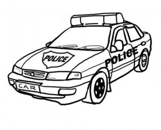 Printable Police Car Coloring Pages Online 46714