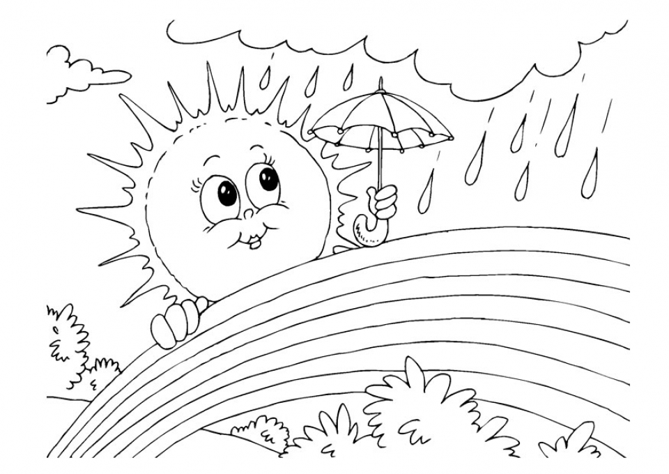 Printable Rainbow Coloring Pages 9wchd