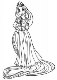 Printable Rapunzel Coloring Pages Online FOH6R