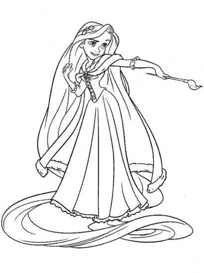 Printable Rapunzel Coloring Pages Online N9F5U