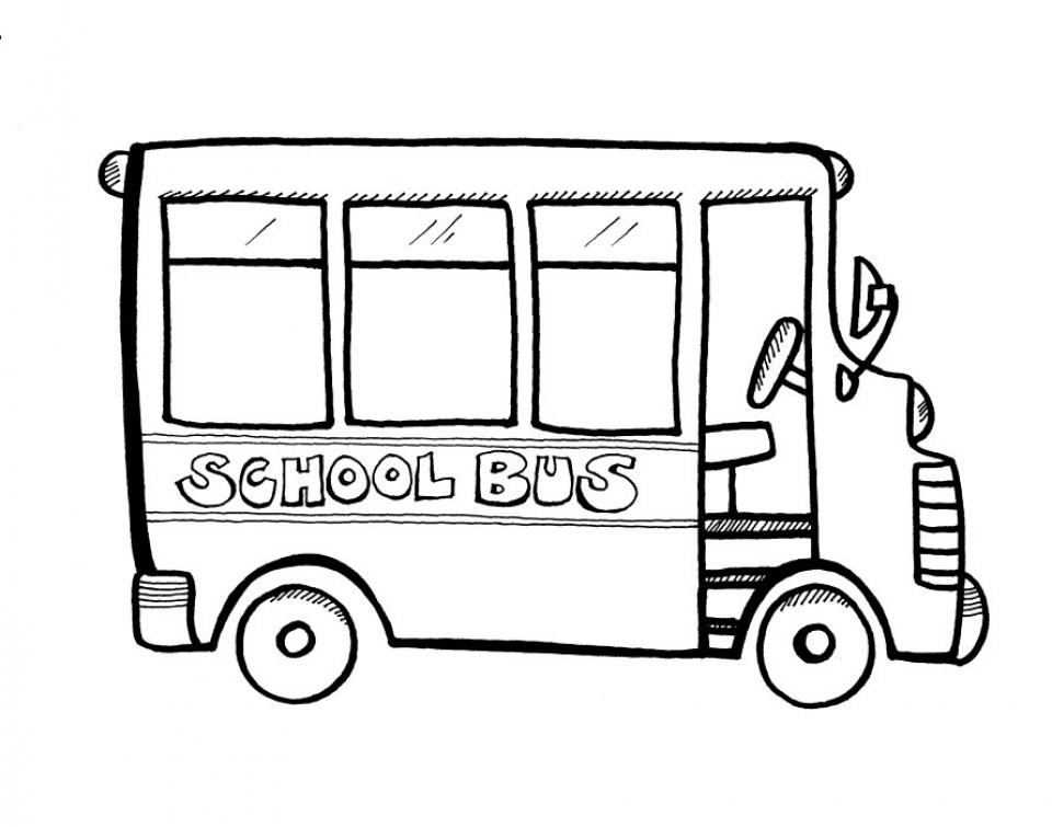 Printable School Bus Coloring Pages   9wchd