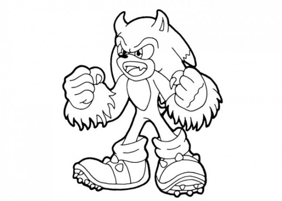 Printable Sonic Coloring Pages   952203