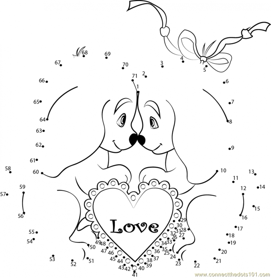 Get This Printable Valentine Dot To Dot Coloring Pages EK1HU