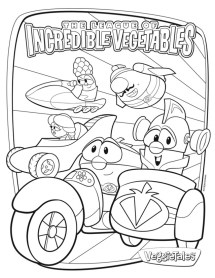 Printable Veggie Tales Coloring Pages dqfk9