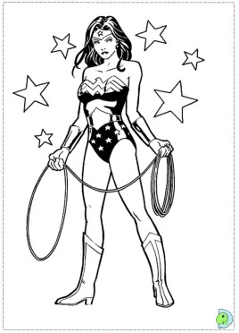 Printable Wonder Woman Coloring Pages 9wchd