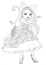 Royal Rebels Ever After High Girl Coloring Pages Printable UHB66