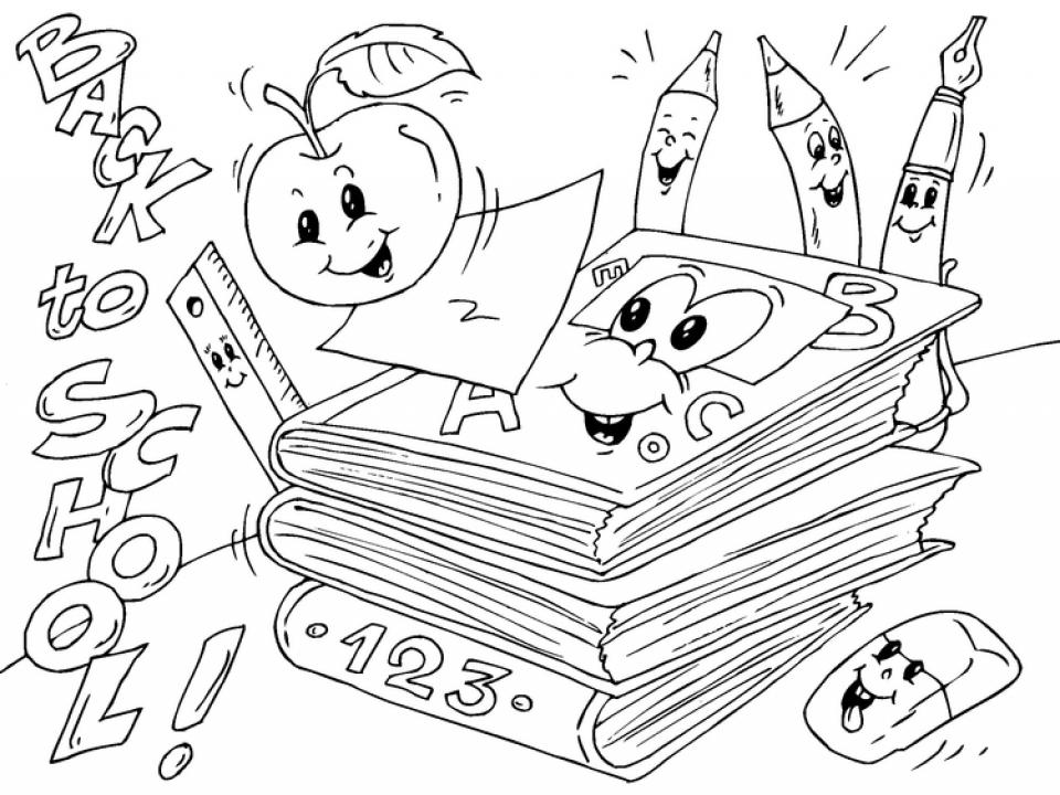 School Coloring Pages for Preschoolers   24vu8