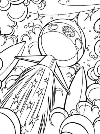 Space Coloring Pages for Adults RDP55