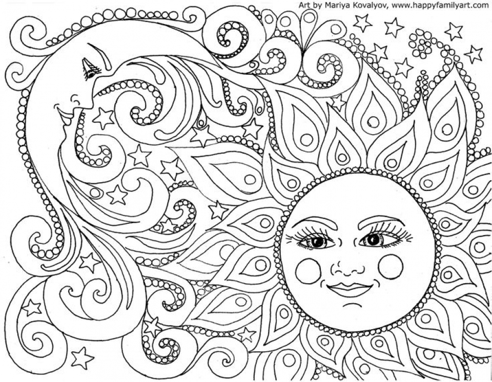 20+ Free Printable Space Coloring Pages For Adults - EverFreeColoring.com