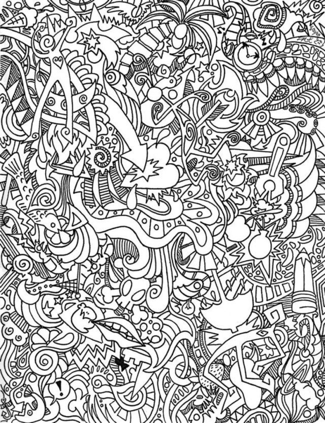 Trippy coloring pages printable for adults