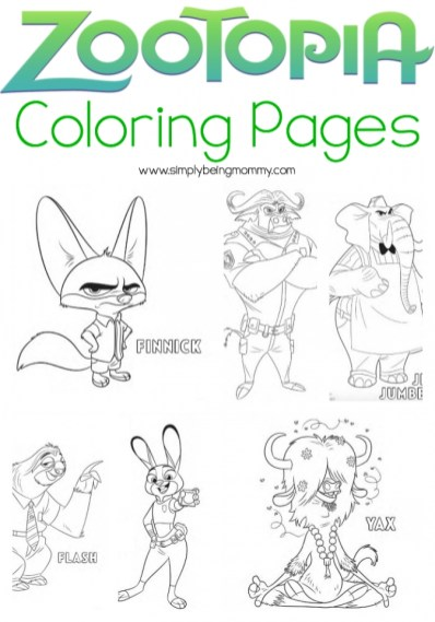 Zootopia Coloring Pages Free Printable 107443