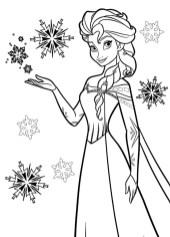Disney Snow Queen Elsa Coloring Pages - 8CBS2