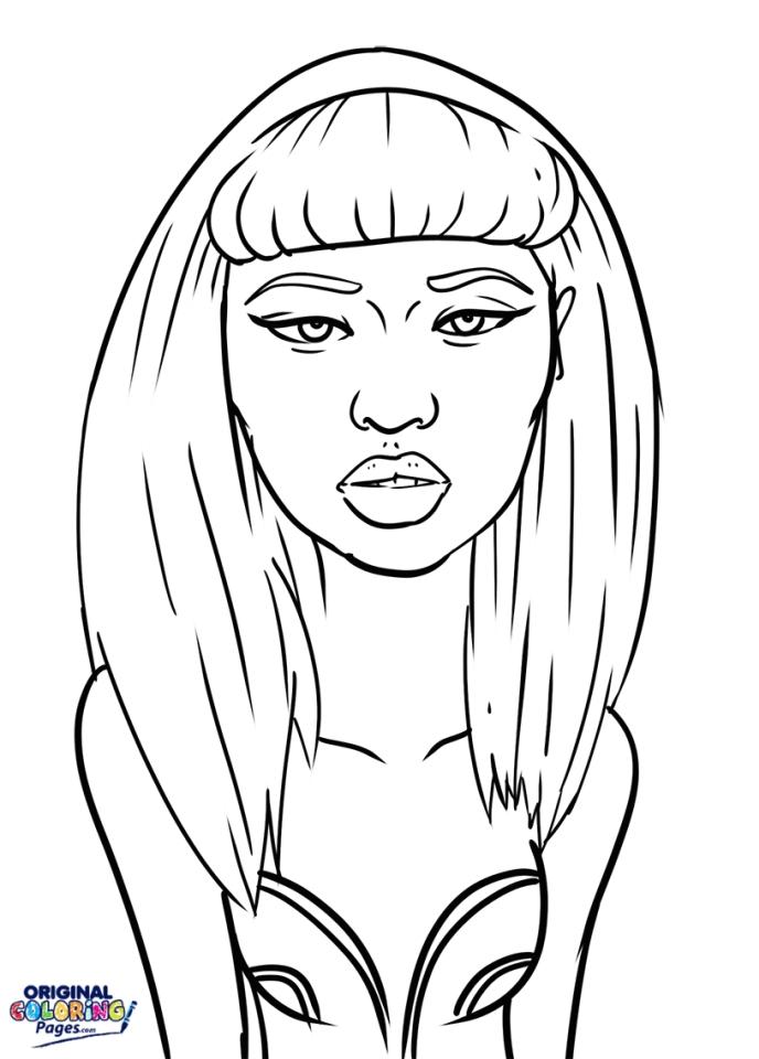 Nicki Minaj Coloring Pages To Print - 87310