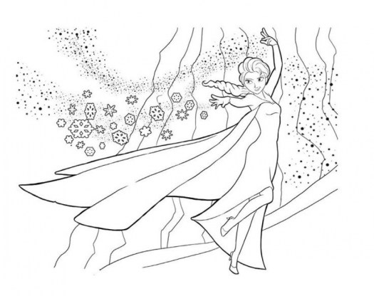 Disney Princess Elsa Coloring Pages Free to Print 35190