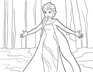 Disney Princess Elsa Coloring Pages Free to Print tamne1
