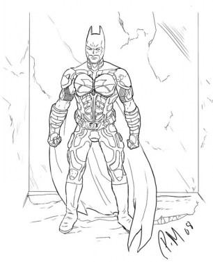 Free Printable Batman Coloring Pages DC Superhero SYC61