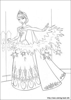 Free Printable Queen Elsa Coloring Pages Disney Frozen AVCT0