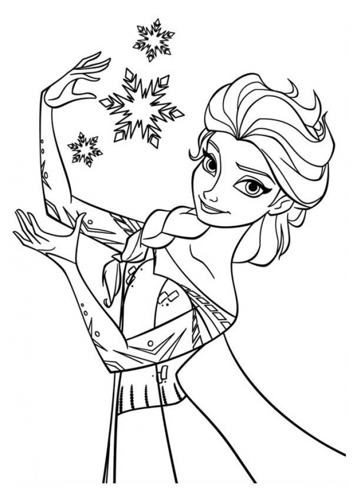 Princess Elsa Coloring Pages 36289